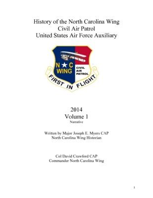 2014 North Carolina Wing History