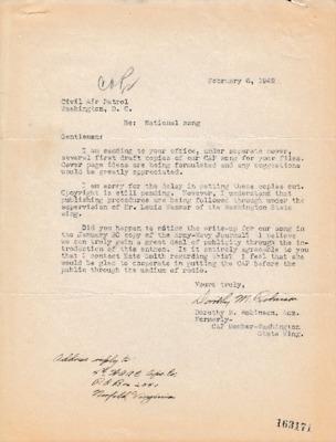 Dorothy M. Robinson to CAP NHQ - 6 February 1943.pdf